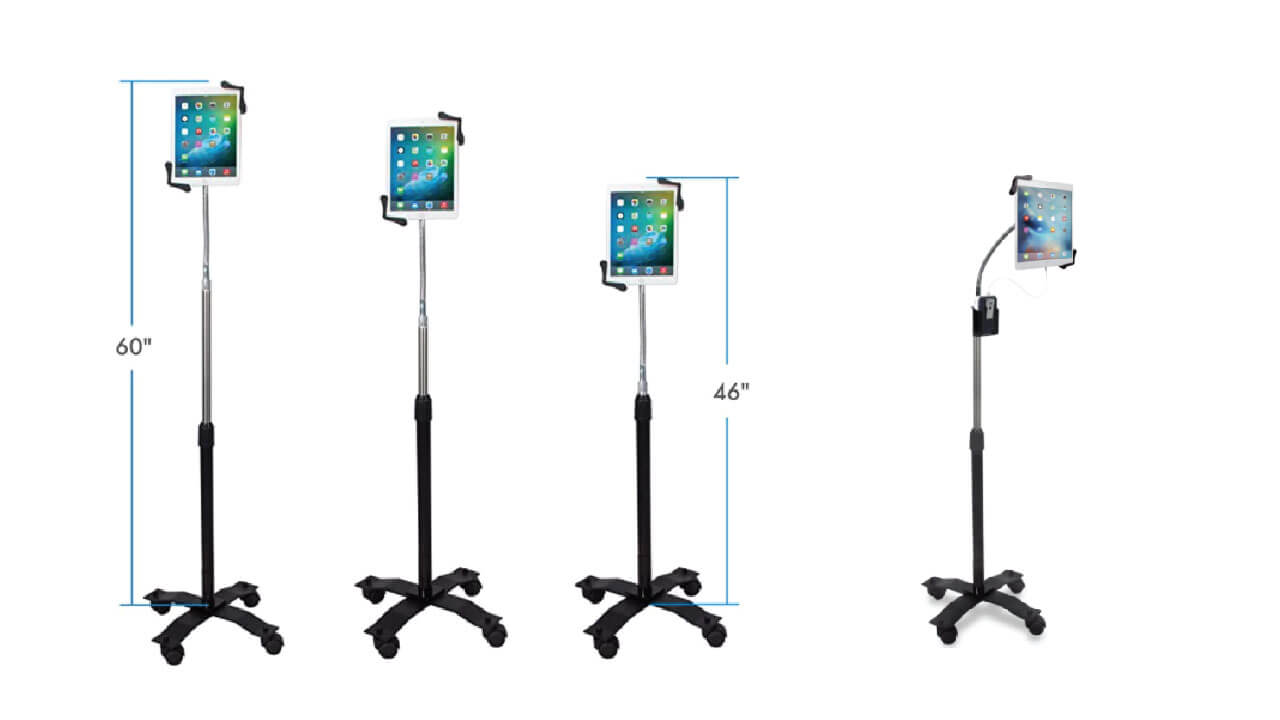 CTA Height Adjustable Rotating Gooseneck Tablet Stand