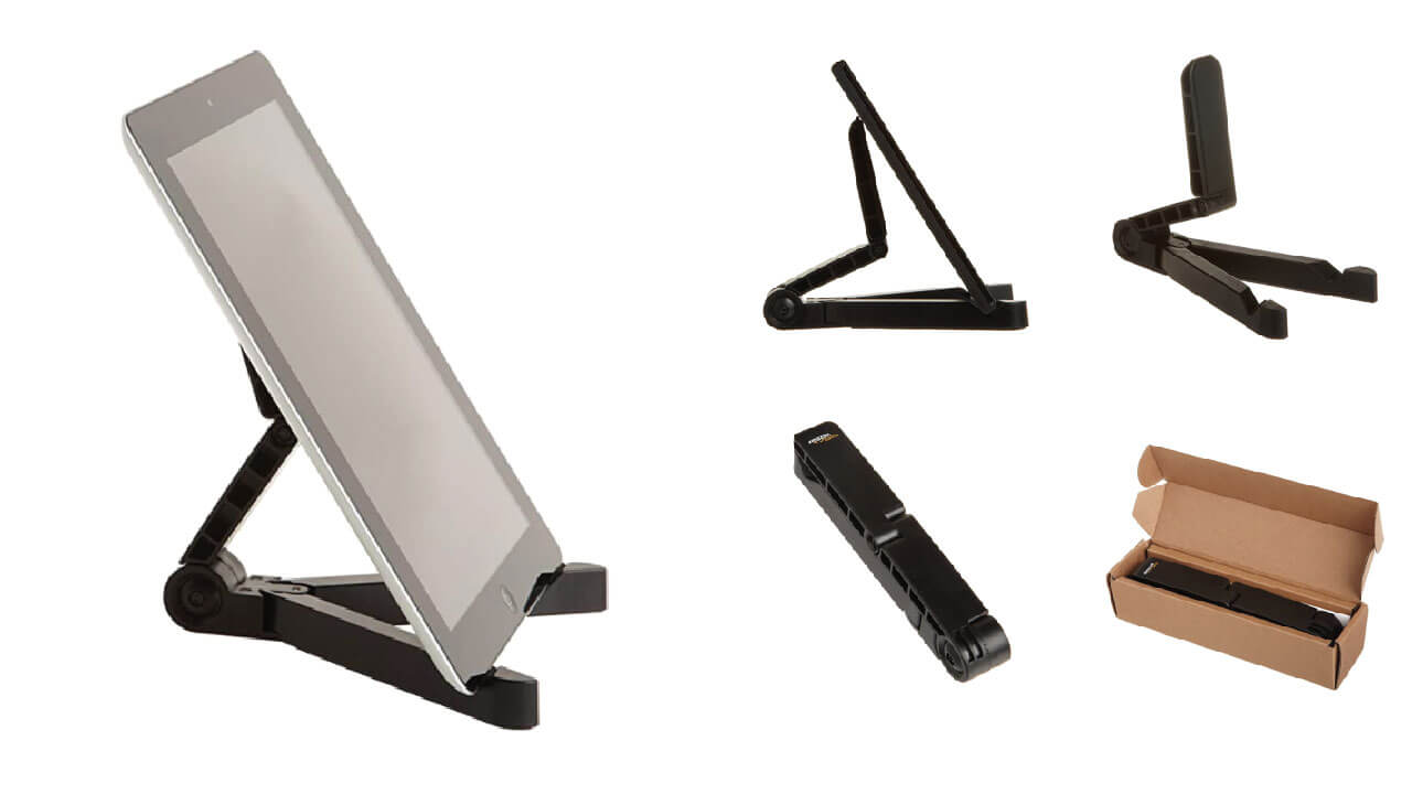 Adjustable Tablet Holder Stand Compatible with Apple, Samsung Galaxy, iPad and Many Other Tablets