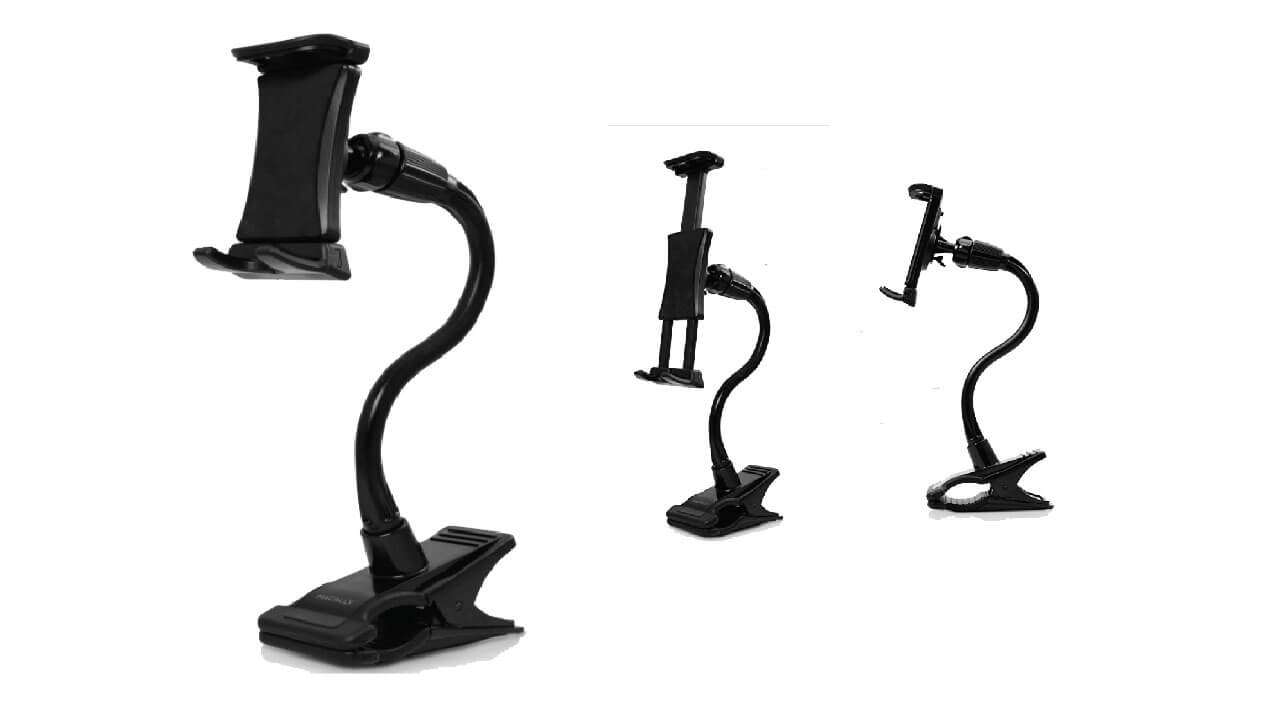 Goosenech Adjustable Tablet Holders and Phone Clip