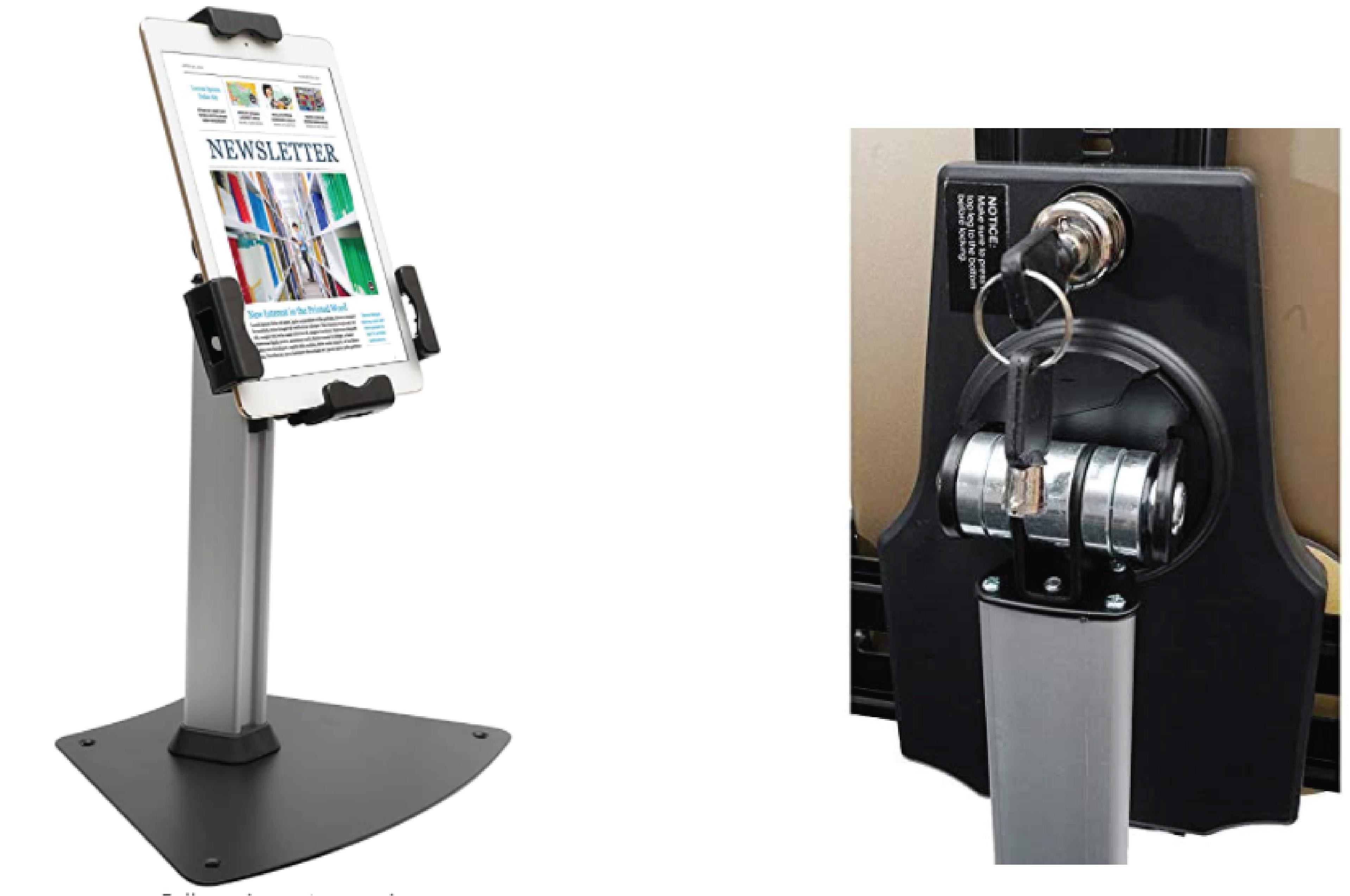 Kantek tablet kiosk stand with Security Locking System