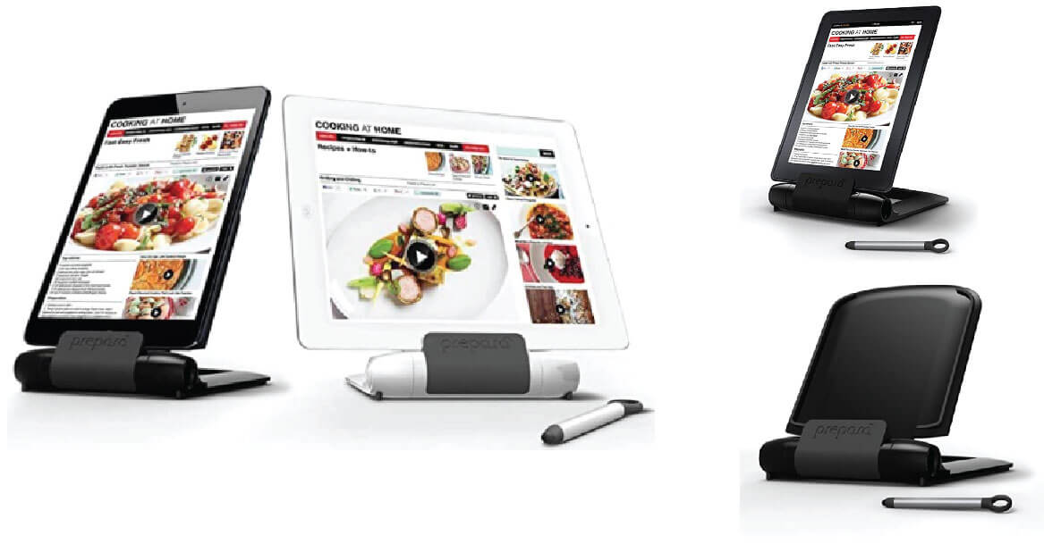 Prepara Black Adjustable Stand for mobile phones and tablets