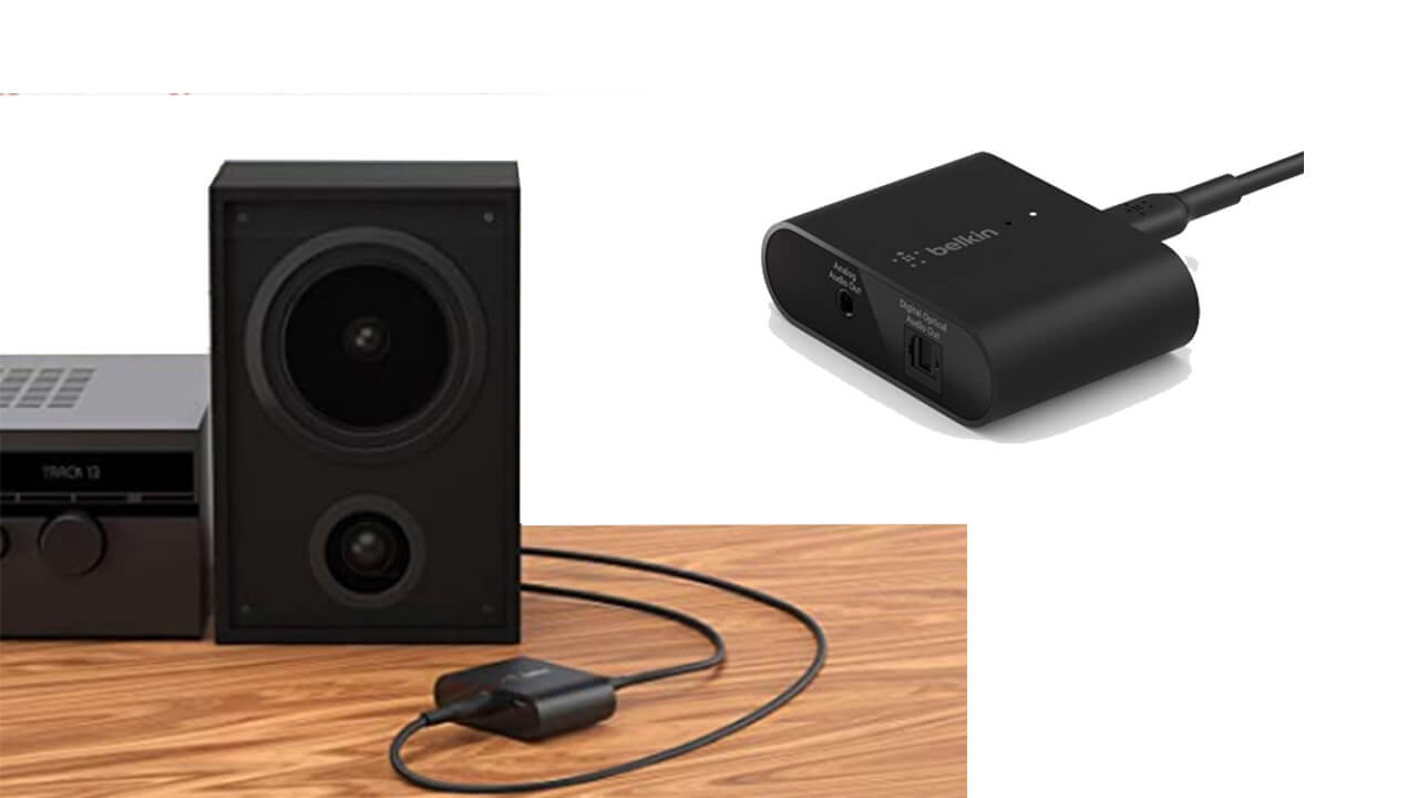 Belkin Soundform Connect Airplay 2 Audio Adapter With Optical and 3.5 mm Speaker Inputs