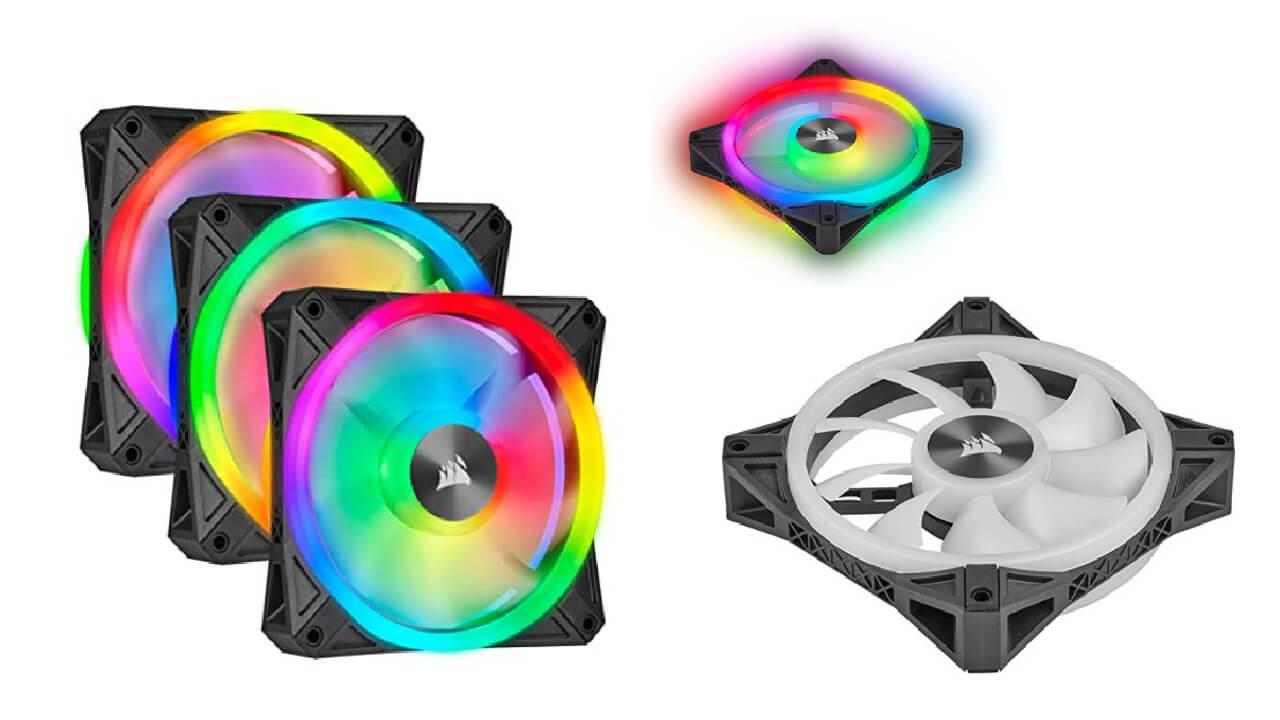 Corsair QL Series-120mm RGB LED Cooling Fan Triple Pack with lightning Node Core