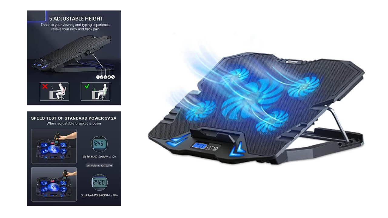 Top Mate C5 Laptop Cooling Pad