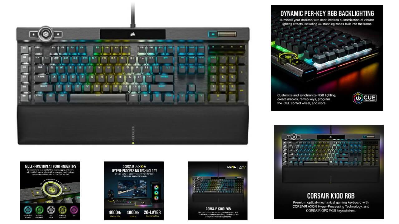 Corsair K100 RGB Optimal Gaming Keyboard