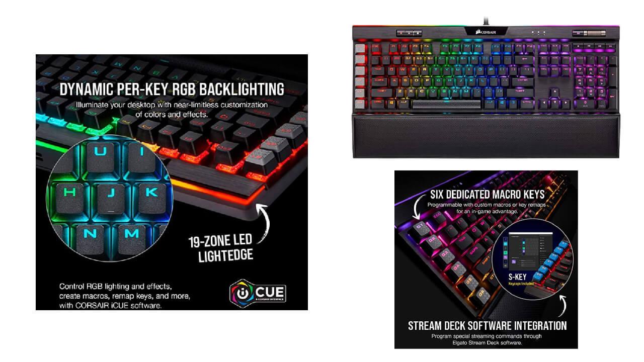 Corsair K95 RGB Platinum XT Mechanical Gaming Keyboard-Backlit RGB LED