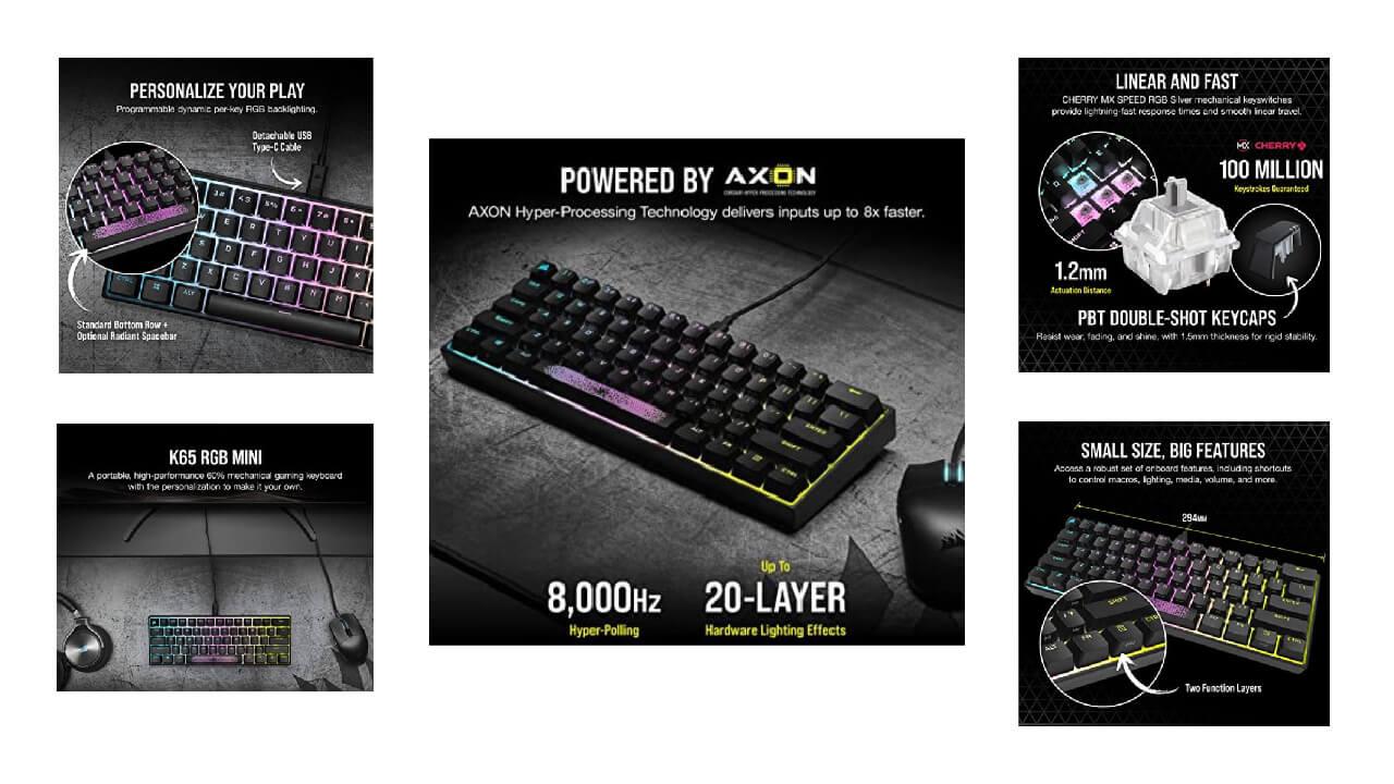 Corsair K65 RGB MINI Mechanical Gaming Keyboard
